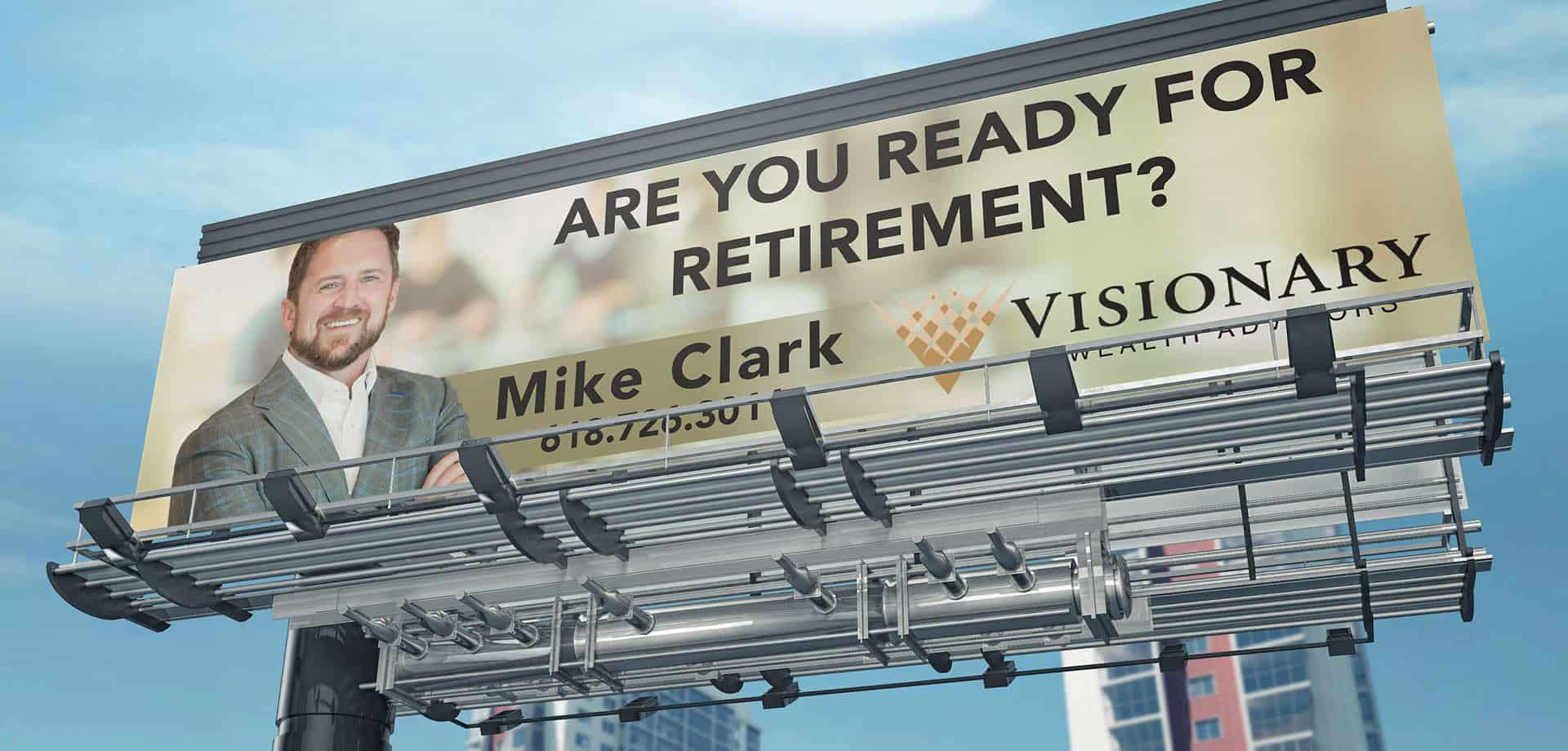 Mike Clark Visionary Wealth billboard
