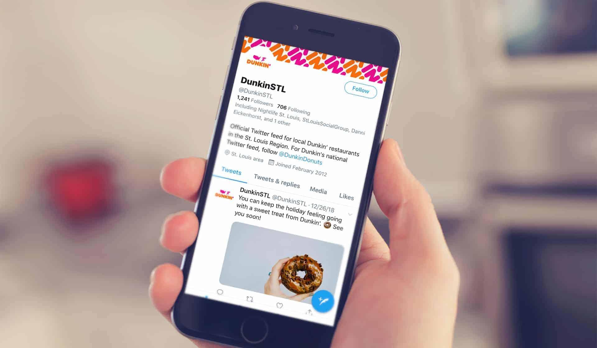 Dunkin' Donuts Twitter feed