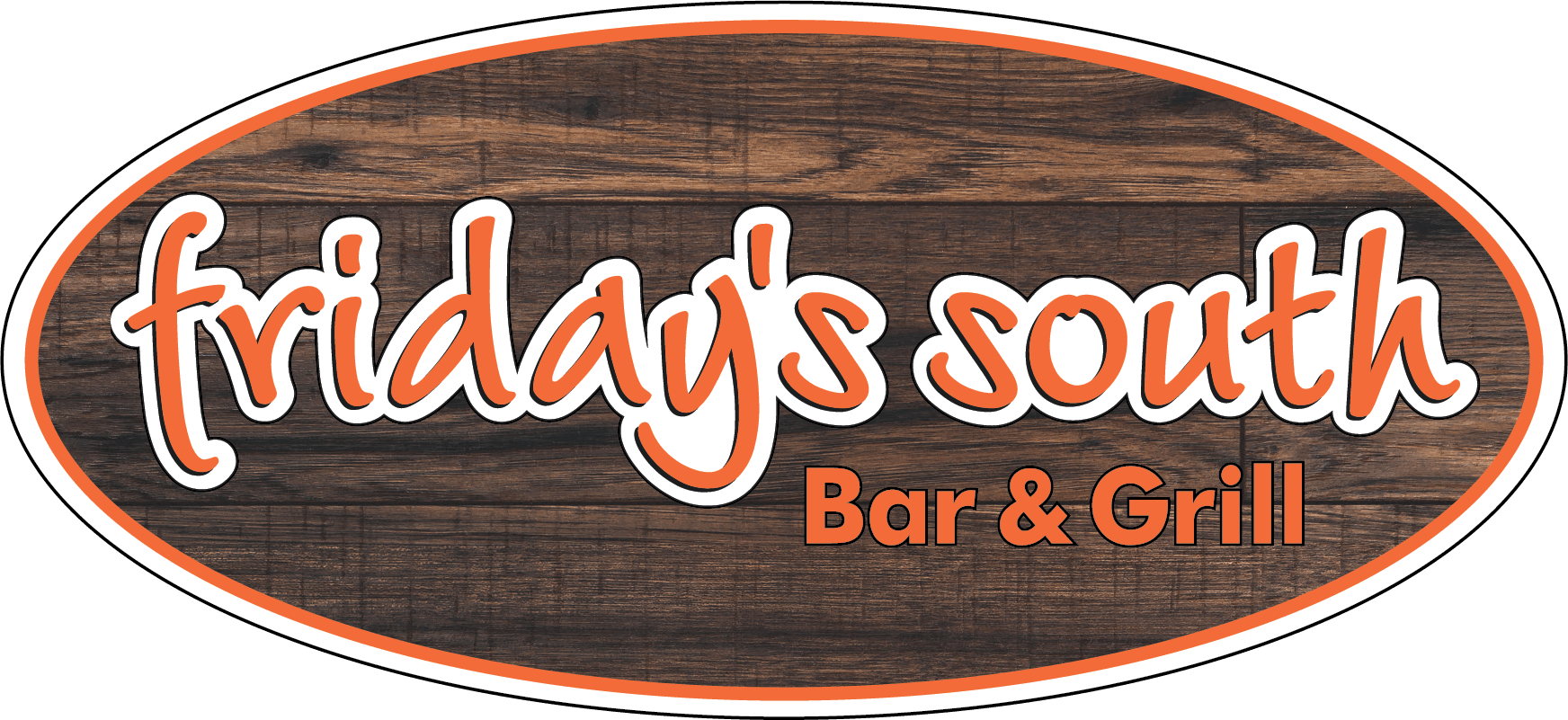 Friday's South logo on a wooden background
