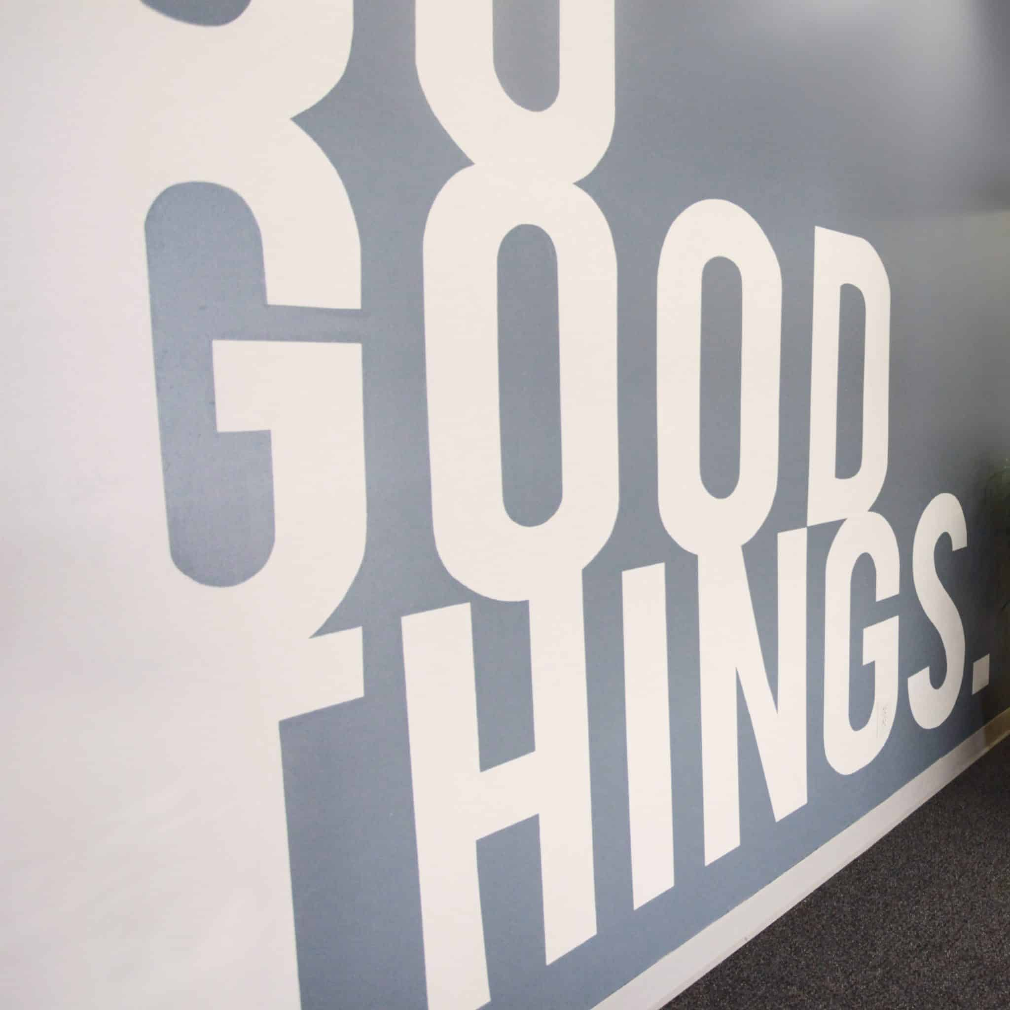 Do Good Things wall mural square