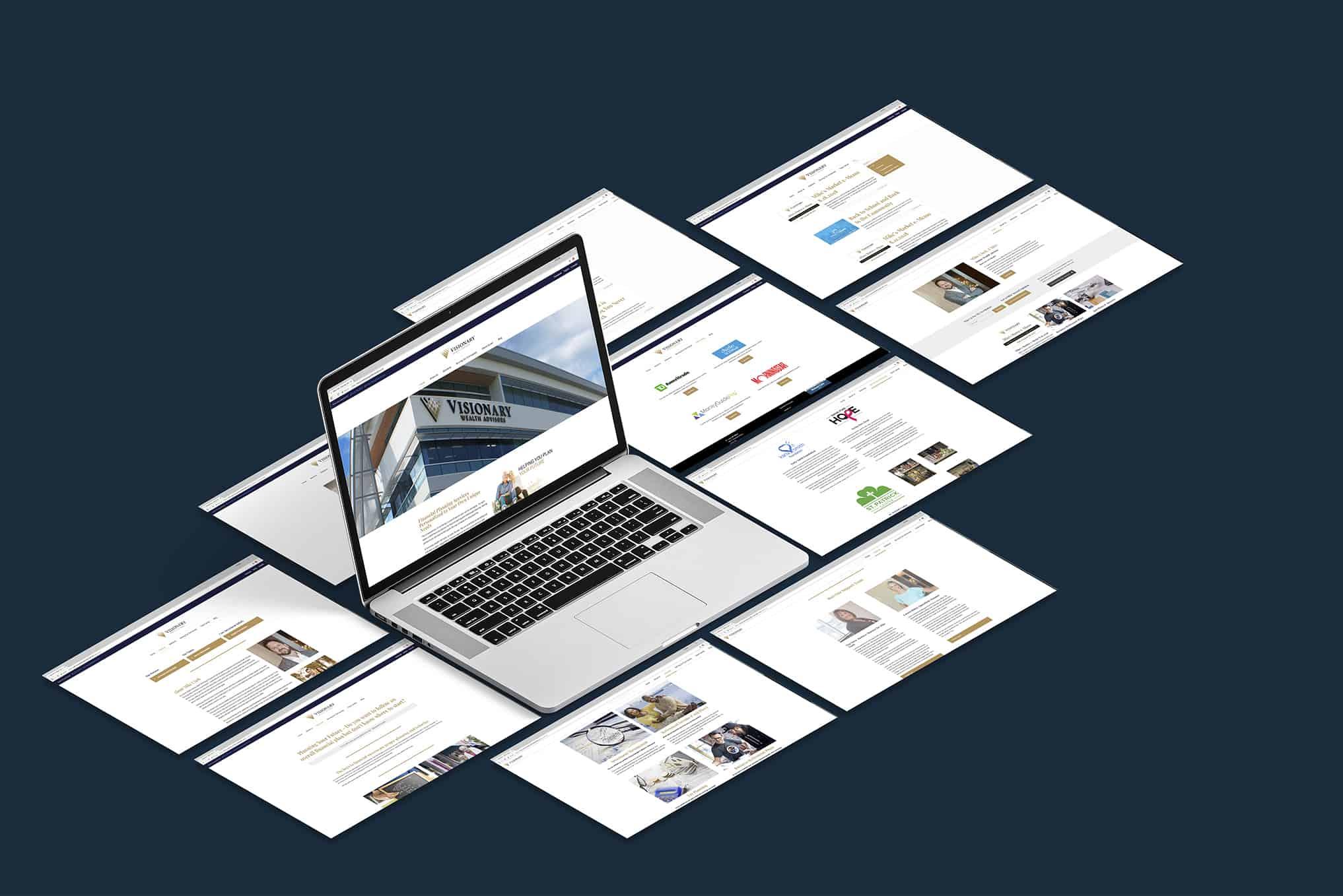 Visionary Wealth Mike Clark website mockup