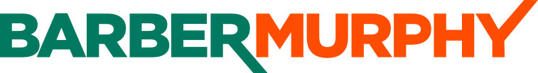 Barber Murphy green and orange logo