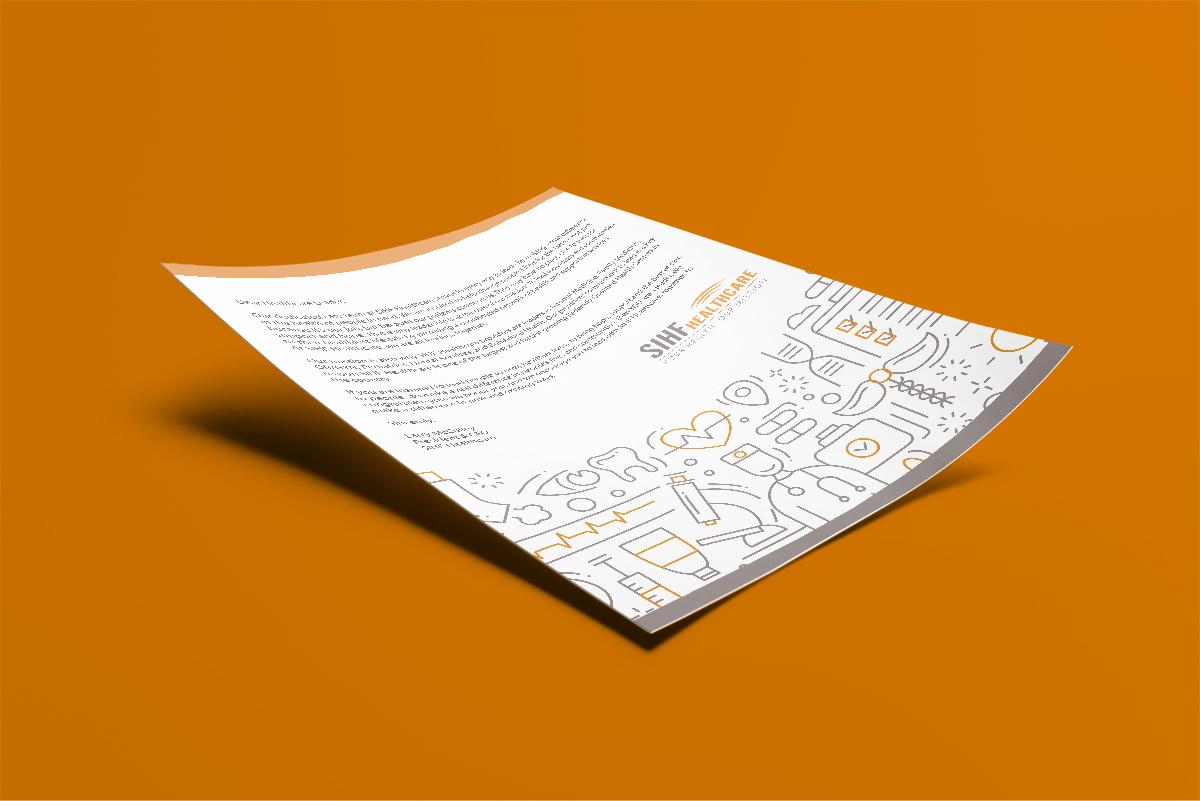 SIHF flyer on an orange background
